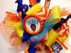 OKC Thunder Hair Bow