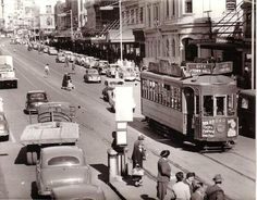 ATB, Auckland Transport Board Tram No242, Downtown Auckland, 1956 Dinosaur Mask, Norfolk Island, Places Of Interest, Auckland, Once Upon A Time, Historical Photos, Continents, Kiwi, Old Photos