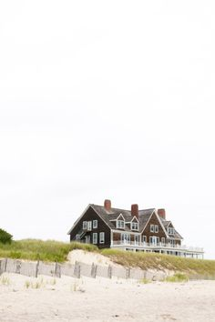 A gorgeous shingled oceanfront home in The Hamptons