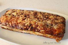 Prepara un sensacional pastel de berenjena que también lleva jamón y queso