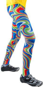589e1b91f2 Aero Tech Men's Wild Print Spandex PADDED Cycling Tights BlueTie Dye