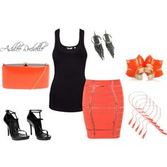 Neon Orange, created by ashlee470 on Polyvore