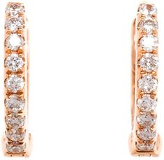 Pin for Later: Les Créoles Sont de Nouveau In, et On N'est Pas Contre  Rosa De La Cruz Boucles D'oreilles Créoles En Or Rose 18ct Et Diamants (497€)