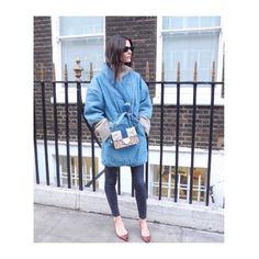 @ganni #denim #kimono @hedvigso #ganni #denimjacket #coat #streetstyle #london #style #fashion #look #design #styling #shop www.ganni.com