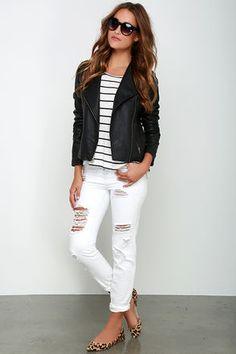 BB Dakota Rylan Jacket - Vegan Leather Jacket - Black Moto Jacket - $103.00