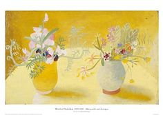 Honeysuckle and Sweetpeas, Winifred Nicholson, Aberdeen Art Galleries and Museums, Painting Still Life, Still Life Art, Art Floral, Winifred Nicholson, William Nicholson, Aberdeen Art Gallery, Vases, Still Life Flowers, Gifts For An Artist