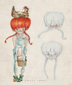 Farm Girl. Character design development.