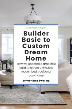 Transform your builder grade home with custom finishes, all on a budget! Take your home from drab to fab with these home decor ideas Big Living Rooms, Desk In Living Room, Dining Room, Green Bathroom Decor, Modern Bathroom Decor, Traditional Interior, Traditional House, Builder Grade Updates, Home Styles Exterior