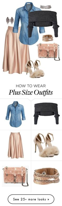"""""""Feeling good for me- plus size"""" by gchamama on Polyvore featuring City Chic, Rebecca Minkoff, Leatherock and Elizabeth Cole #Plussizeclothesforfall"""