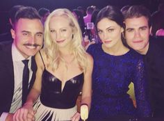 Vampire Diaries Double Date! Paul Wesley and Phoebe Tonkin Join Newlyweds Candice Accola and Joe King at TrevorLive  Vampire Diaries, Instagram