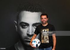 Spanish football legend Xavi opens adidas zone in the new flagship Go-Sports Store in the Mall of Emirates Dubai. One of the greatest footballers of all time met with adidas competition winners and showcased his talents in adidas skills cage on November 23, 2015 in Dubai, United Arab Emirates.