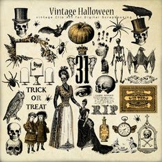 Freebies Vintage Old Paper :Far Far Hill - Free database of digital illustrations and papers halloween illustration Happy Halloween, Image Halloween, Holidays Halloween, Spooky Halloween, Halloween Crafts, Halloween Decorations, Retro Halloween, Halloween Design, Halloween Costumes