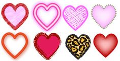 Free Symbol Libraries for Adobe Illustrator: Free Heart Symbols for Adobe Illustrator