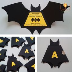 Convite em formato de morcego do Batman. As crianças adoram! The kids love it! The post Batman Bat Invitation. The kids love it! Lego Batman Birthday, Lego Batman Party, Superhero Birthday Party, Boy Birthday, Birthday Parties, Ninja Party, Batman Party Supplies, Baby Batman, Batgirl