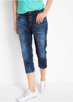 Ελαστικό τζιν κάπρι boyfriend Dark denim bpc bonprix collection | 34.99 € | bonprix