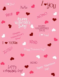 free valentine scrapbook paper - Google Search