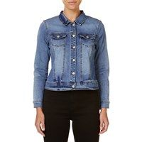 Rockmans Button Through Denim Jacket | Outerwear | Rockmans