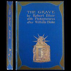 1906 William Blake Illustrated Blair The Grave RARE Engravings Gilt Fine Binding | eBay