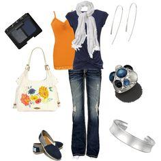 Blue & Orange Casual