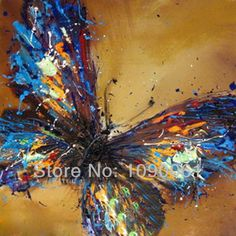 hand-painted-abstract-butterfly-painting-artwork-canvas-picture-modern-home-and-restaurant-decoration-picture-with-nofrmaed-2297.jpg (800×800)
