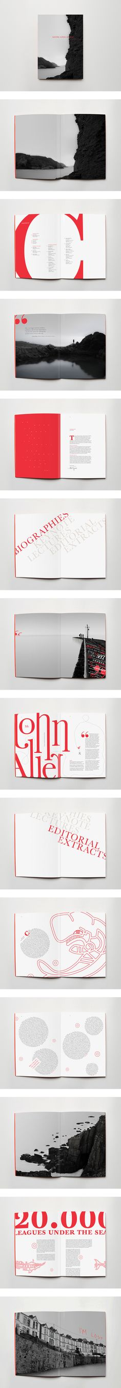 Extremely interesting use of typography and layout design. RNLI Catalogue by Ciprian Robu
