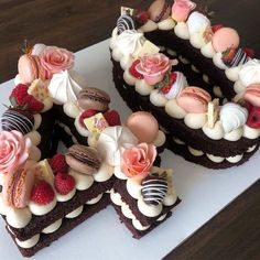 15 Cakes in the form of numbers that are too beautiful to eat - - #cupcakes