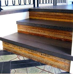 Yardstick Kickboards on Stairs ~ LOVE!