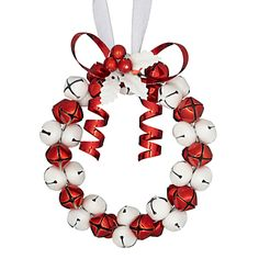 John Lewis Bell Wreath Decoration, Red