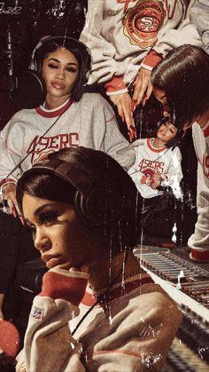 Rapper Wallpaper Iphone, Rap Wallpaper, Iphone Wallpaper Tumblr Aesthetic, Black Aesthetic Wallpaper, Black Girl Aesthetic, Wallpaper Iphone Cute, Cartoon Wallpaper, Dope Wallpapers, Celebrity Wallpapers