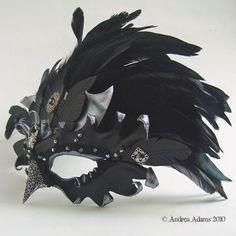 Jeweled Leather Raven Mask by *Beadmask on deviantART