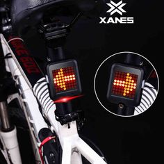 XANES 64 LED 80LM Intelligent Automatic Induction Steering Brake Safety Bicycle Taillight with Infrared Laser Warning Waterproof Night Light USB Charging