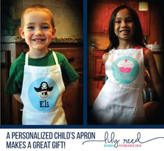 Pirate Apron Child's Apron Personalized Apron Kids by LilyReed