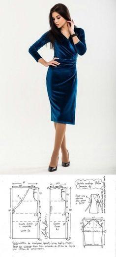 Выкройка велюрового платья с запахом (Шитье и крой) | Журнал Вдохновение Рукодельницы