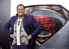 Laurence Fishburne tried something a little different. | 'Man of Steel' premiere - Yahoo! Movies