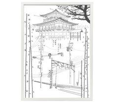 Kyoto modern printable wall art home decor  by ArtsAndTravelPrints