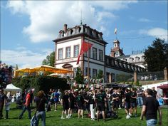 The annual Bürgerfest in Hanau Germany in front of historic Philippsruhe palace.