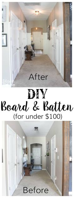 The Cheapest and Easiest DIY Board and Batten | See our tips to create this same look in your own home. | Bless'er House #DIY #Boardandbatten