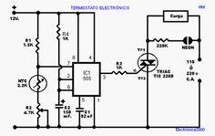 YoReparo - Termostato electronico para horno Electronics Basics, Electronics Gadgets, Power Supply Circuit, Electronic Circuit Projects, Electronic Schematics, Power Generator, Home Technology, Arduino