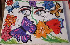 Ojos viendo mariposas