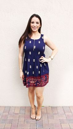 Stitch Fix review March April 2016 - THML Ericka Crepe Dress – from Melissa at The Eyes of a Boy blog