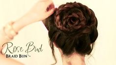 Rose Bud Braid Bun Tutorial This Rose Bud Braid Bun Tutorial are for Long and medium hairs.This is really amazing hairstyles which you can make now… - New Site Medium Long Hair, Medium Hair Styles, Curly Hair Styles, Medium Hairs, Hairstyles For School, Up Hairstyles, Graduation Hairstyles, Teenage Hairstyles, Braided Bun Tutorials