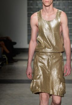 "Arnaldo Ventura S/S 2015 Menswear São Paulo Fashion Week - This is not ""Manly wear""."