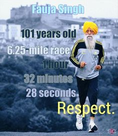 Funny pictures about Respect to Fauja Singh. Oh, and cool pics about Respect to Fauja Singh. Also, Respect to Fauja Singh. Muscle Fitness, Health Fitness, Health Club, Easy Fitness, Fitness Tips, Funny Images, Funny Pictures, Random Pictures, Funny Pics