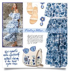 """""""Feeling blue"""" by anne-irene ❤ liked on Polyvore featuring Mochi, Dolce&Gabbana, French Connection and Prada"""
