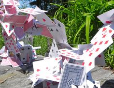 Unruly cards sculpture