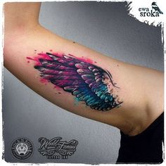 #ewasroka #wings #wingtattoo #girlytattoo #watercolortattoo #watercolourtattoo #watercolor #tattoo #tattooart #tattooartist #graphictattoo #worldfamousink @worldfamousink @rocknroll_tattoo_warszawa