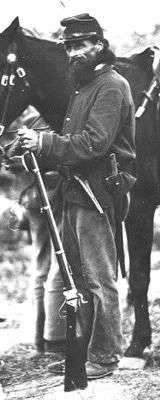 (PVT Truman Head) was the most famous of the Berdan Sharpshooters and personally purchased his Sharps Rifle. This inspired the unit members to demand the Sharps Rifle. (PVT Truman Head) was th Military Photos, Military Art, Military History, American War, American History, Civil War Art, America Civil War, Civil War Photos, Gettysburg