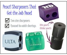 Makeup Sharpeners that Get the Job Done @ulta_beauty @Urban Decay @Shiori Ucheya @Sephora