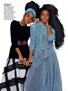 Suki and Immy Waterhouse, Chloë Grace and Trevor-Duke Moretz, and More Stylish Siblings in Spring's Graphic Looks – Vogue Black Girl Magic, Black Girls, Édito Vogue, Quann Sisters, Magazine Vogue, African Fashion Designers, Inspiration Mode, Fashion Inspiration, Afro Punk