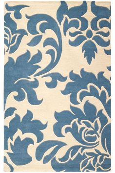 For lower-level family room (Martha Stewart Living™ Grand Damask Area Rug - All-weather Rugs - Martha Stewart Living Rugs - Rugs | HomeDecorators.com)